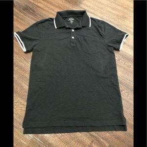 🎥 J crew man black polo cotton S